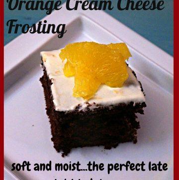 Basic Chocolate Cake & Orange Cream Cheese Frosting