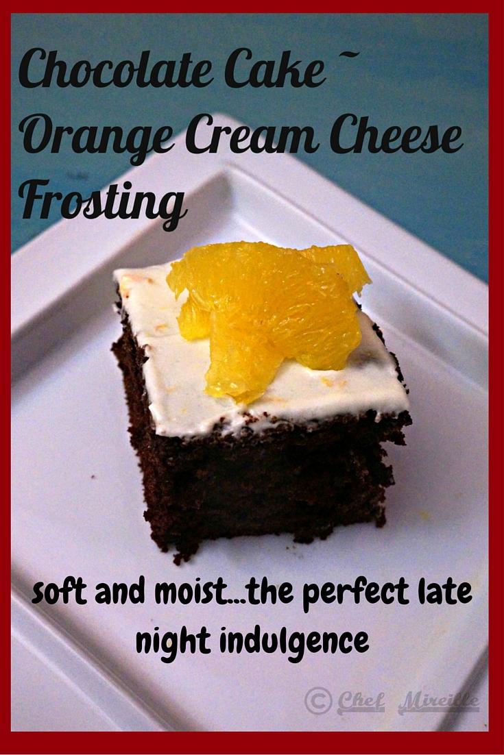 Chocolate cake, Cream Cheese Frosting