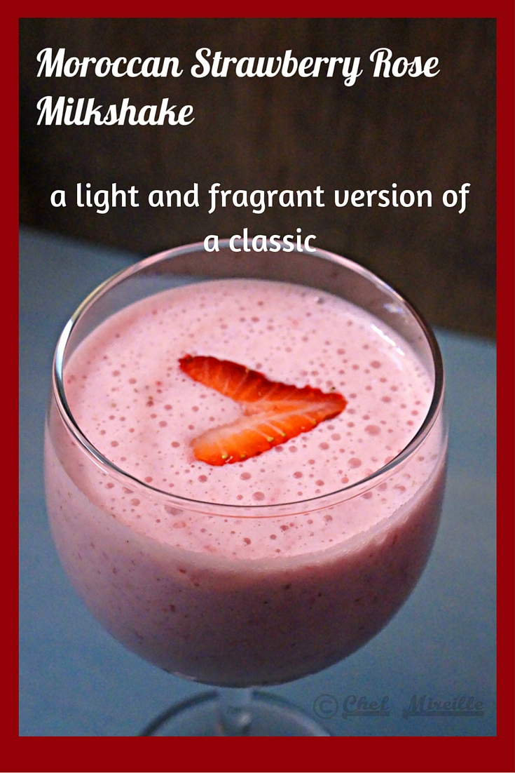 Moroccan Strawberry Rose Milkshake