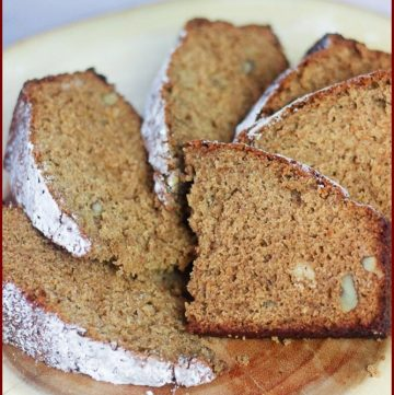 plate of Jewish Honey Cake recipe