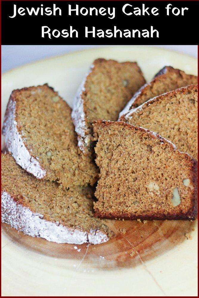 plate of Jewish Honey Cake recipe
