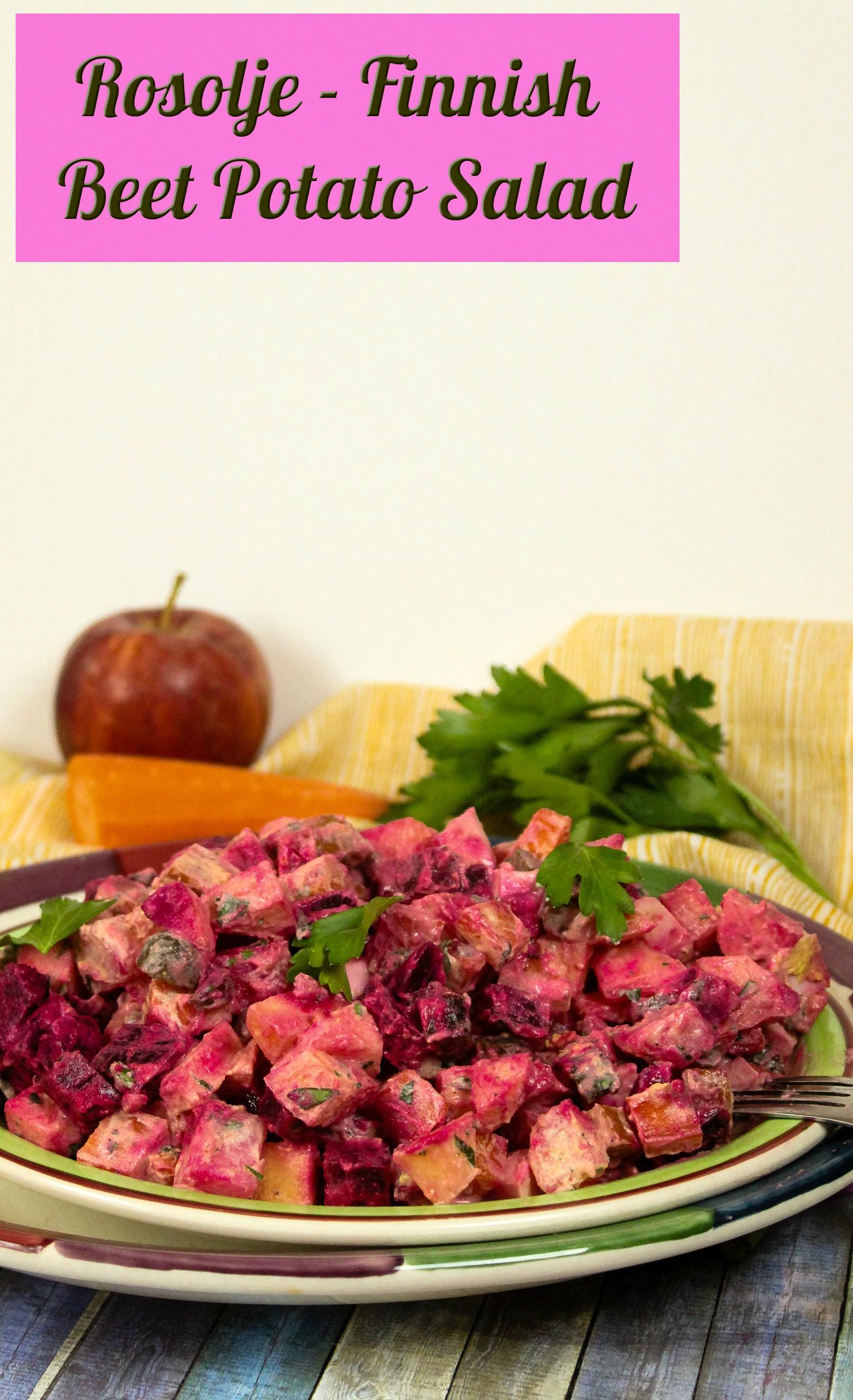 Rosolje - Finnish Beet Potato Salad