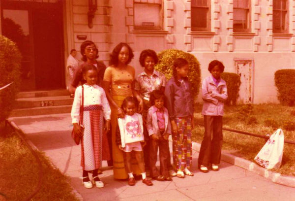 me with my sisters & some of my cousins as they visited us in NY on their way to the Netherlands during the migration