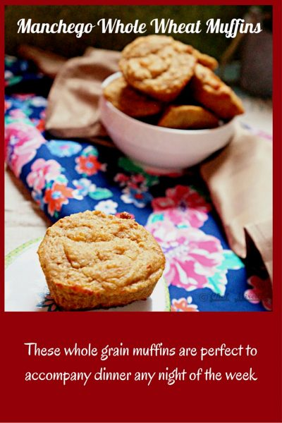 Manchego Whole Wheat Muffins