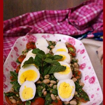Piyaz - Turkish White Bean Salad