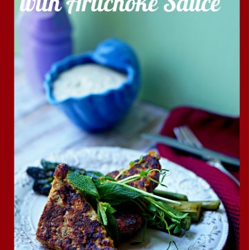 Herbed French Toast with Artichoke Sauce