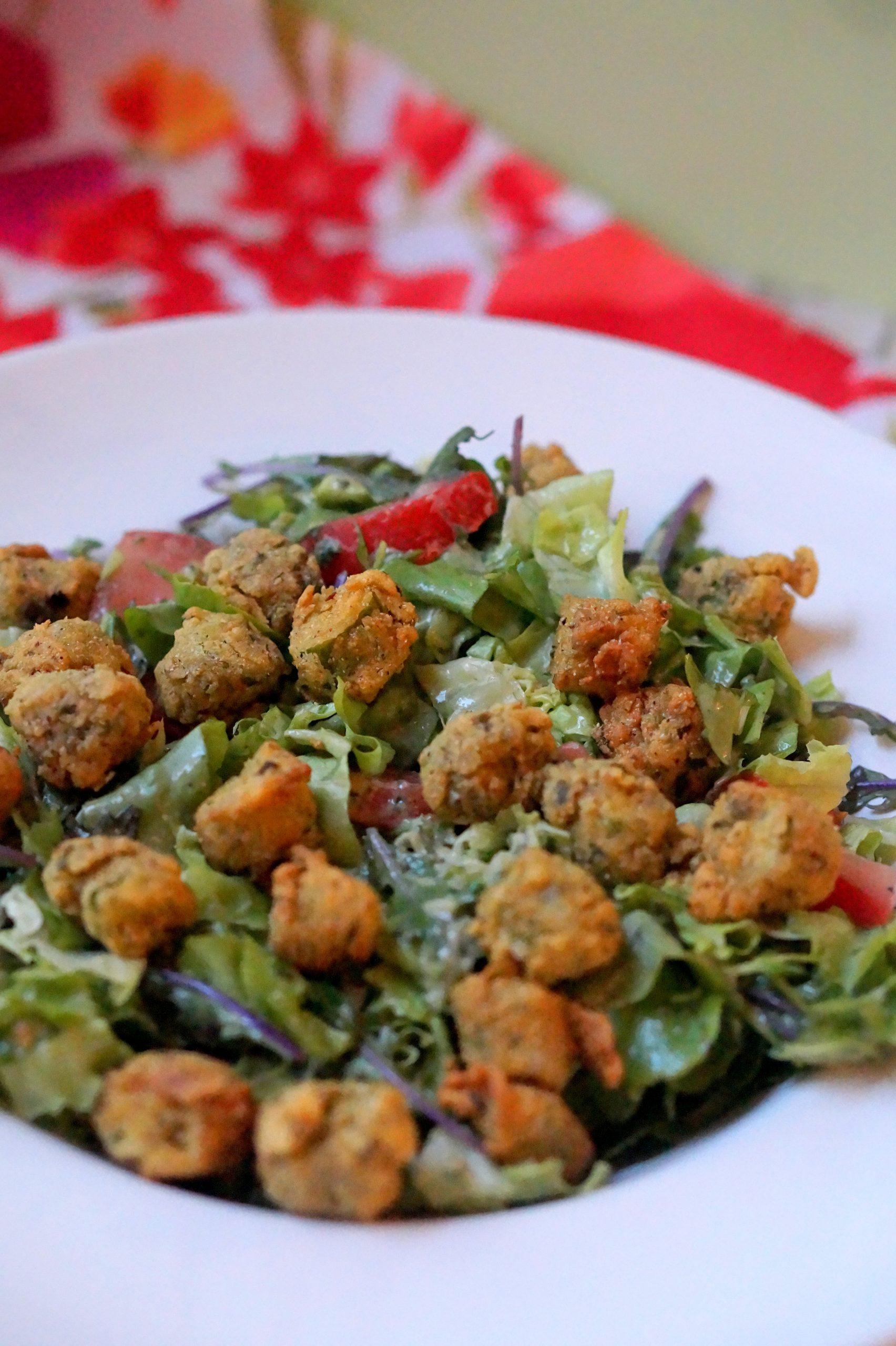 Fried Okra Salad recipe