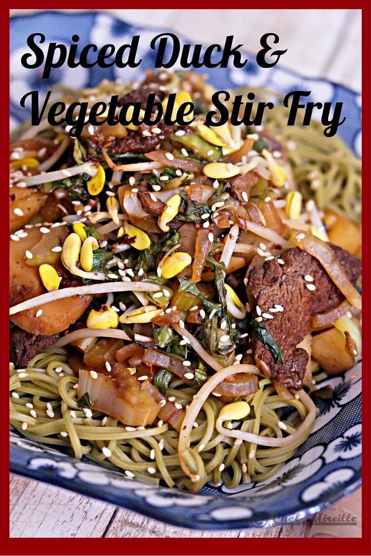 Spiced Duck & Vegetable Stir Fry