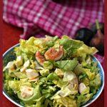 Fig Salad with Mozzarella Cheese