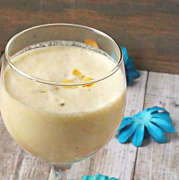 Coconut Corn smoothie in a glass
