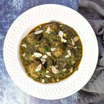 Rista Palak – Kashmiri Lamb Meatballs in Spinach Curry