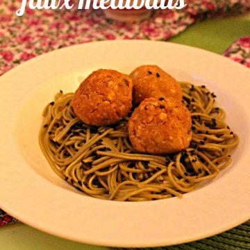 "Chickpea ""faux meatballs"""