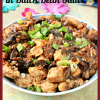 Chicken & Mushrooms in Black Bean Sauce