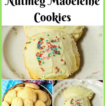 Orange Nutmeg Madeleine Cookies