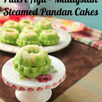 Malaysian Puteri Ayu - Steamed Pandan Sponge Cake
