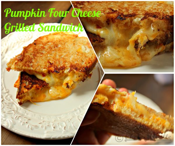Pumpkin Four Cheese #nationalgrilledcheeseday