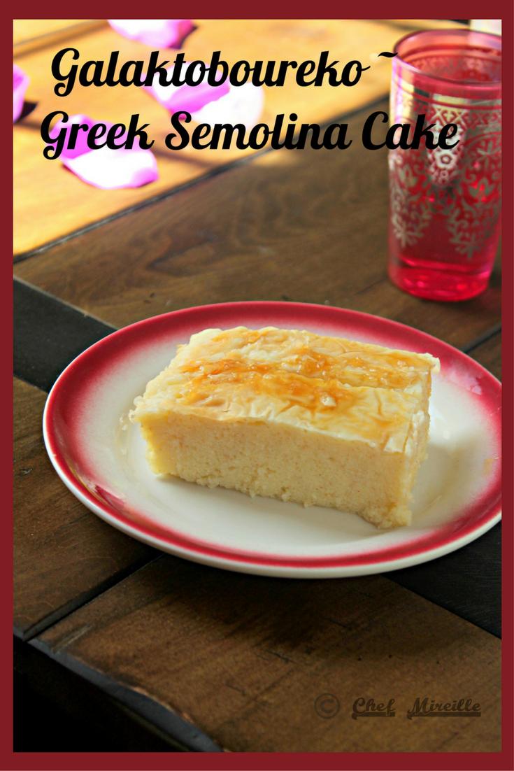Galaktobourko - Greek Semolina Cake