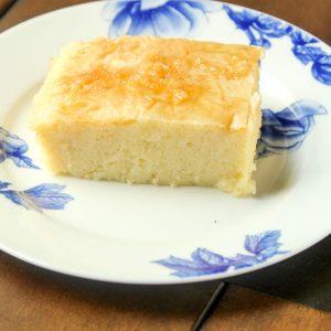 slice of Greek Custard Pie on a plate