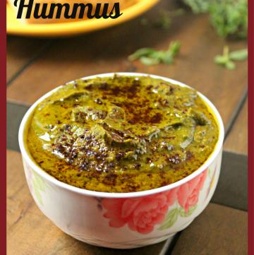 Allergen Free Spinach Harissa Hummus
