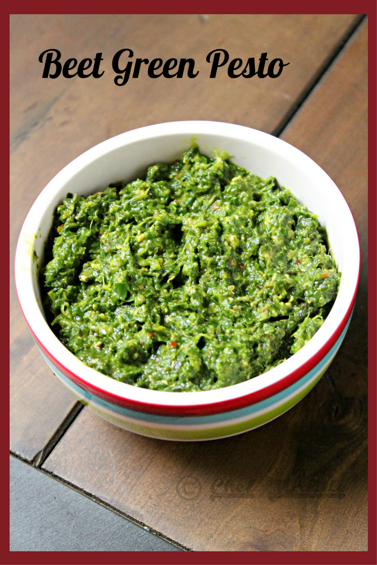 Vegan Beet Green Pesto
