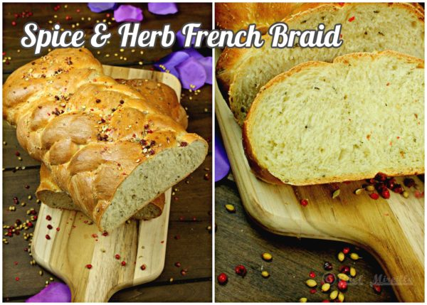 Spice & Herb French Braid Loaf for #BreadBakers