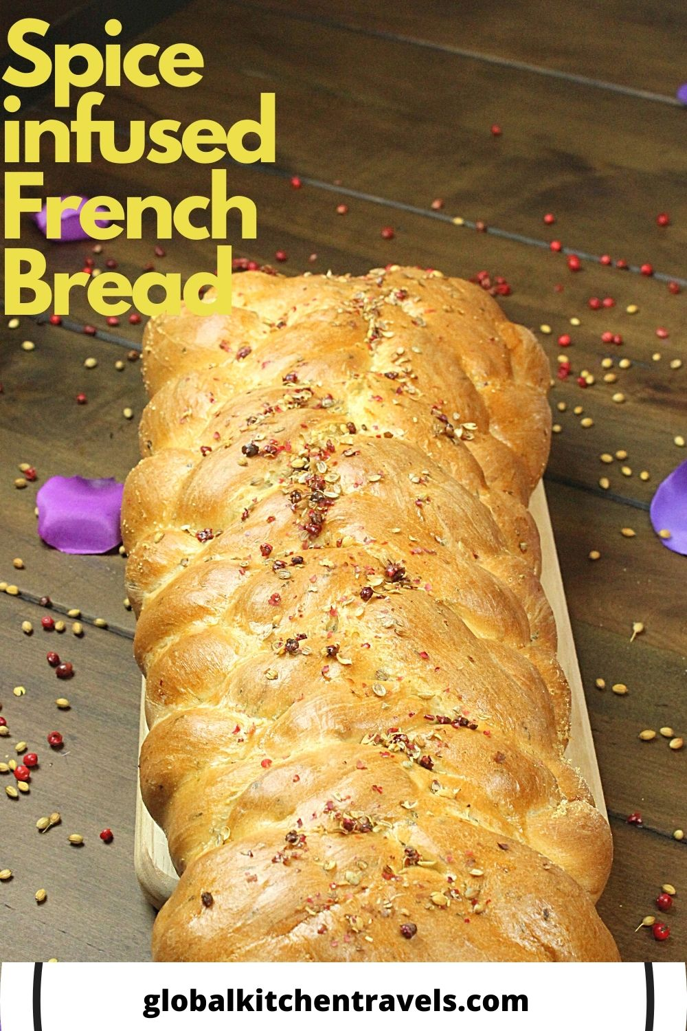 7 strand loaf of French Bread with text