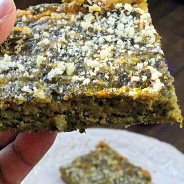 Cheesy Dandelion Einkorn Savory Brownie
