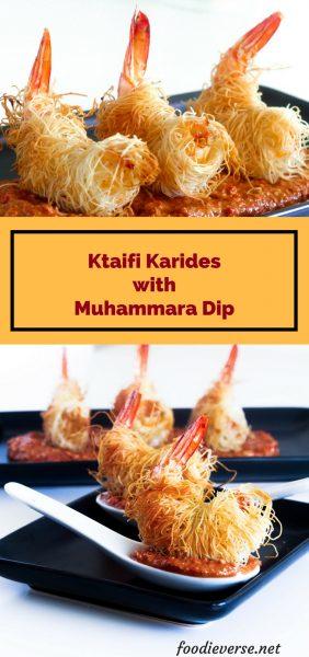 Ktaifi Prawns, Muhammara