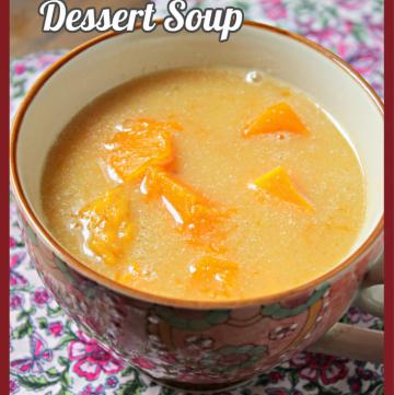 bowl of Kolak - Indonesian Dessert Soup