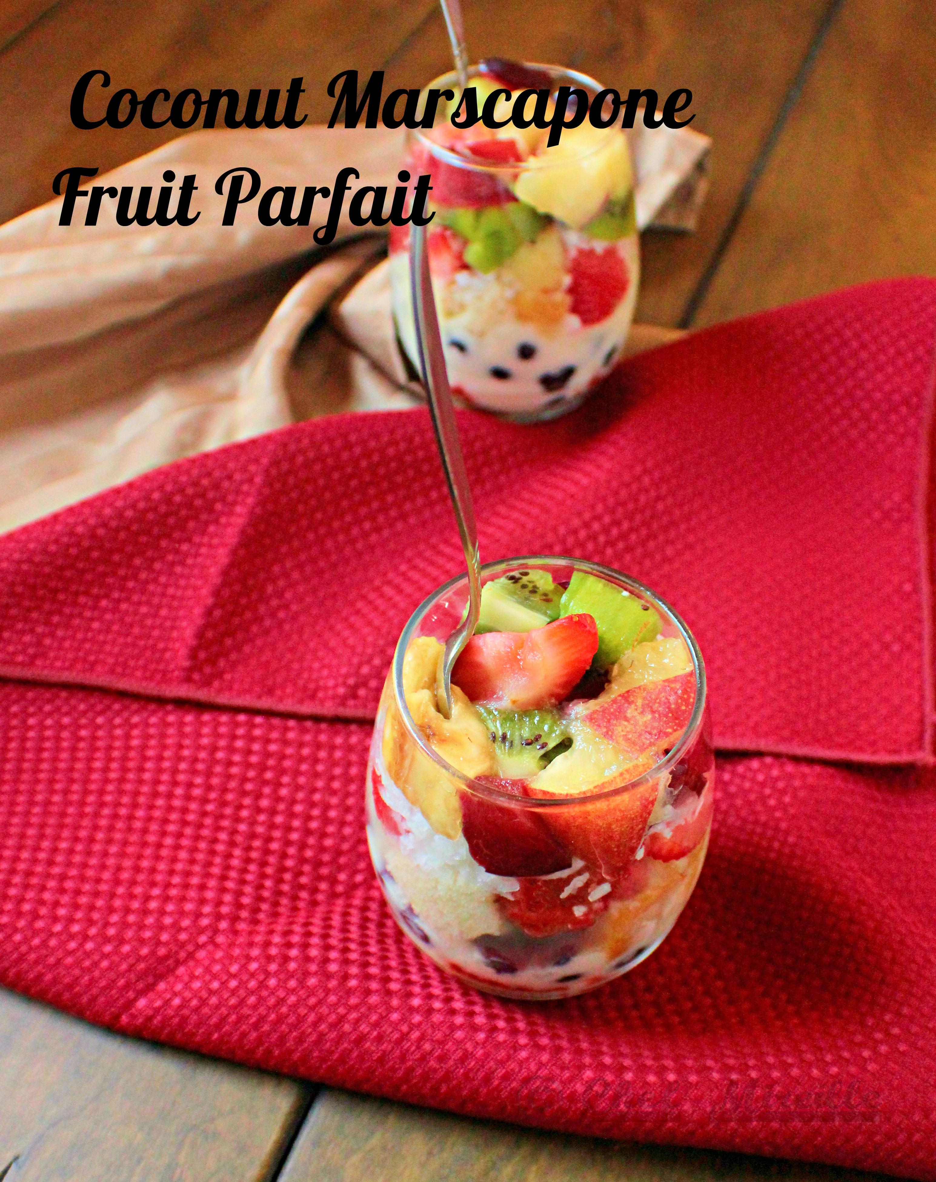 Fruit and Cake Parfait