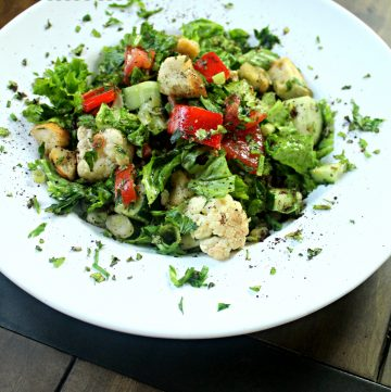 Roasted Cauliflower Fattoush