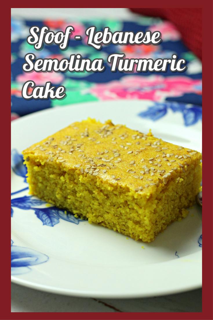 Sfoof - Lebanese Semolina Turmeric Cake