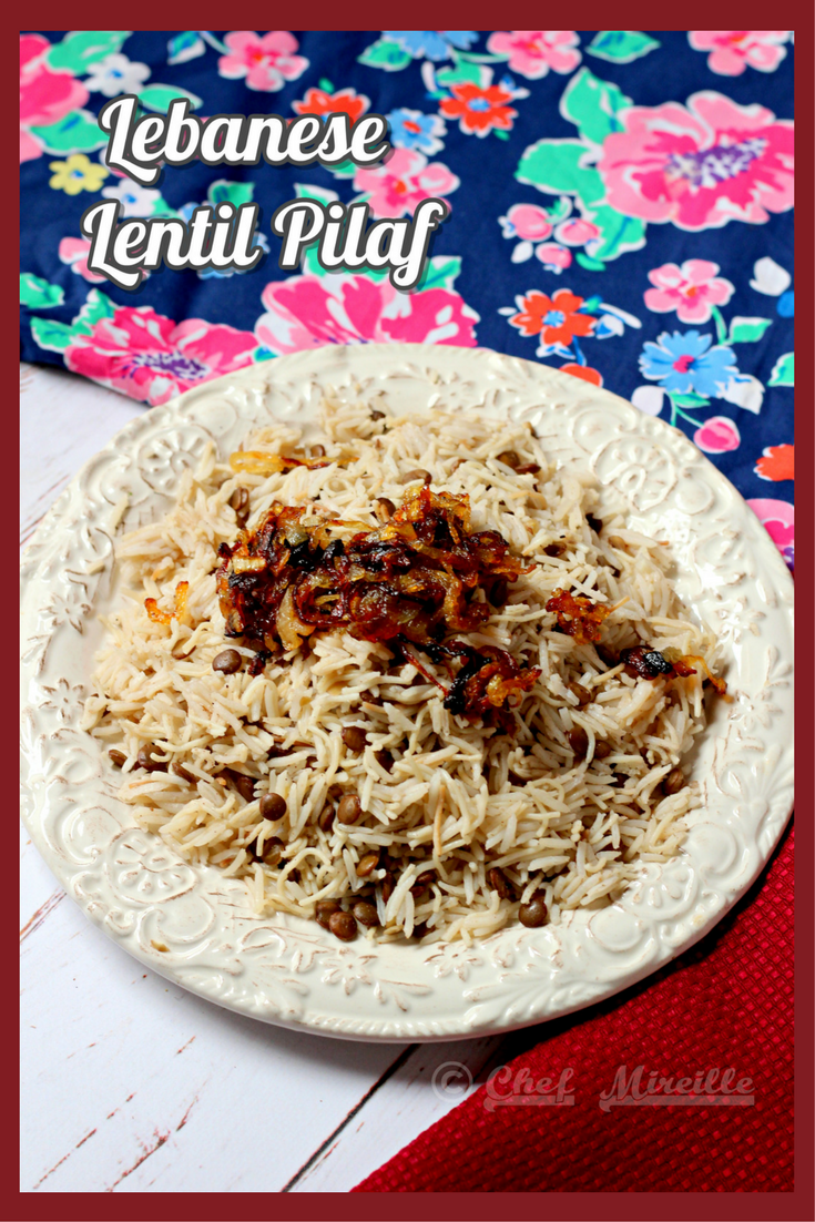 Lentil Pilaf with Caramelized Onions