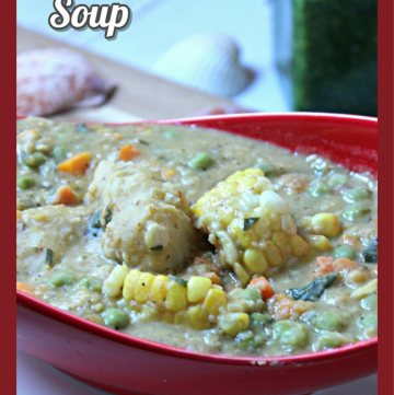 Caribbean Corn Soup with Dumplings - Trini Style