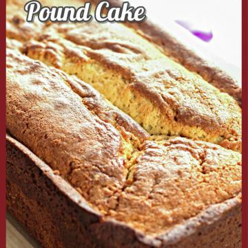 Saffron Ricotta Pound Cake