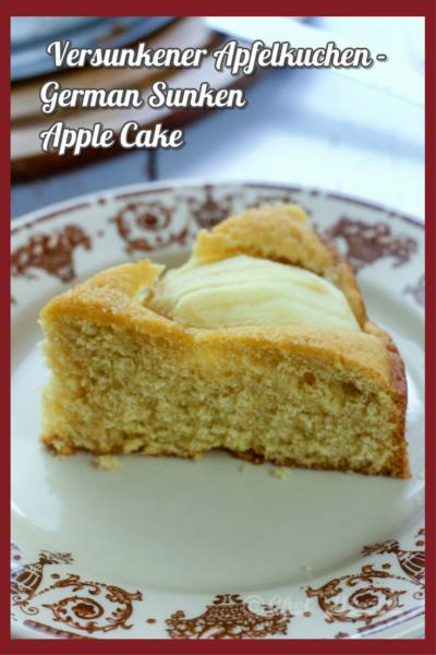 Versunkener Apfelkuchen - German Sunken Apple Cake