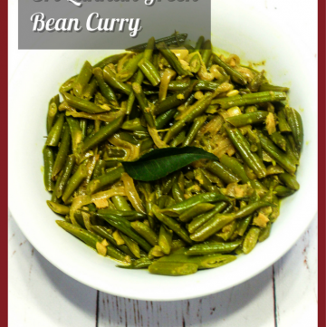 Boonchi Curry - Sri Lankan Green Bean Curry