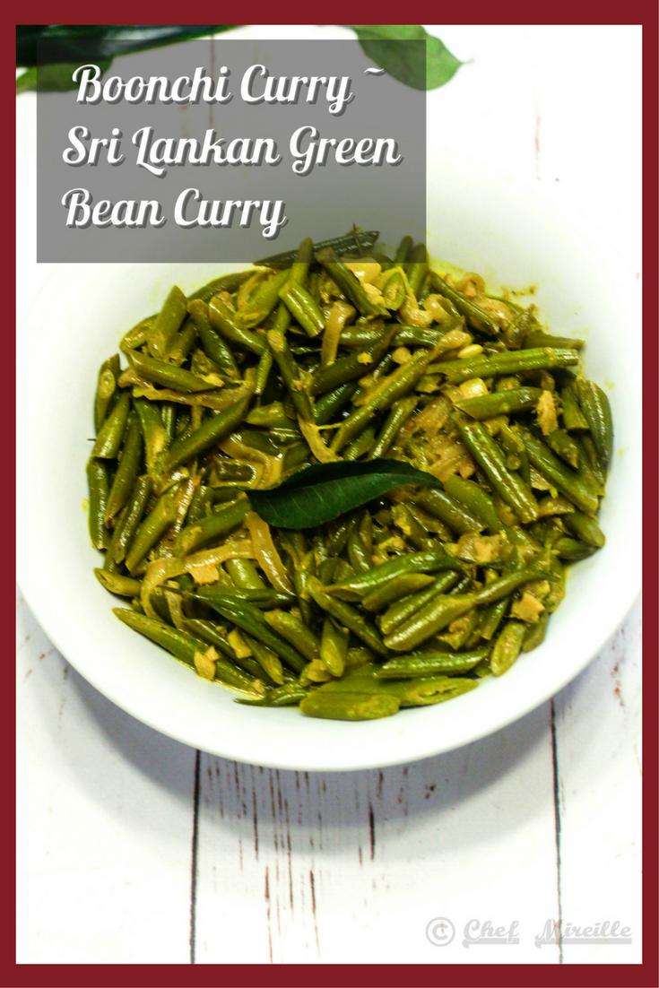 Boonchi Curry - Sri Lankan Green Bean Curry