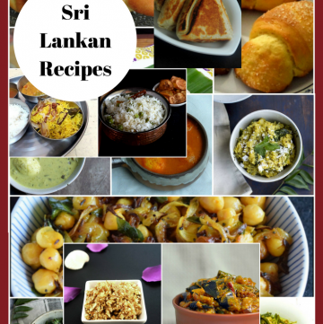 Sri Lankan Recipe Roundup