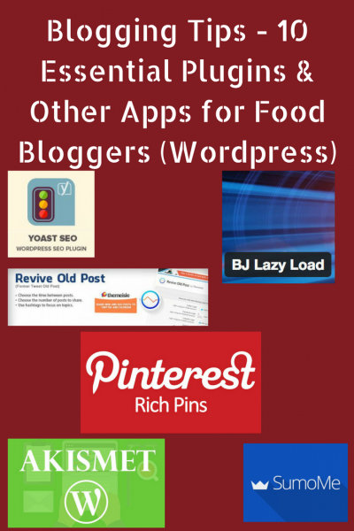 Blogging Tips - 10 Essential Plugins and other apps for Food Bloggers