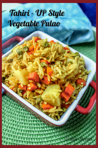 Tahiri - Uttar Pradesh style Vegetable Pulao