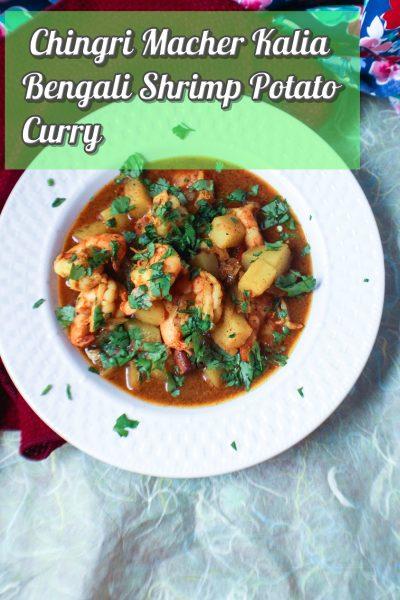 Chingri Macher Kalia - Bengali Shrimp Potato Curry