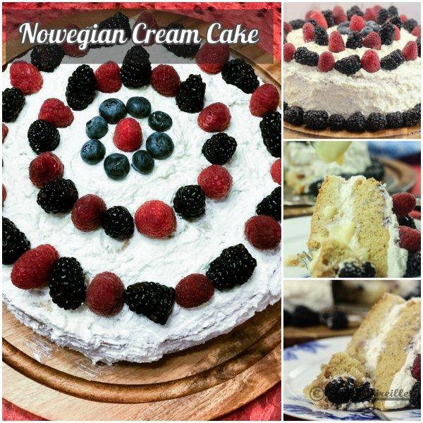 Norwegian Cream Cake - Norwegian National Cake - Blotkake