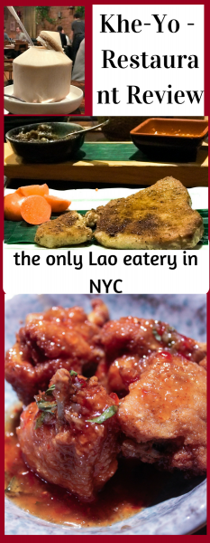 Restaurant Review - Khe-Yo - Lao Restaurant in NYC's Tribeca