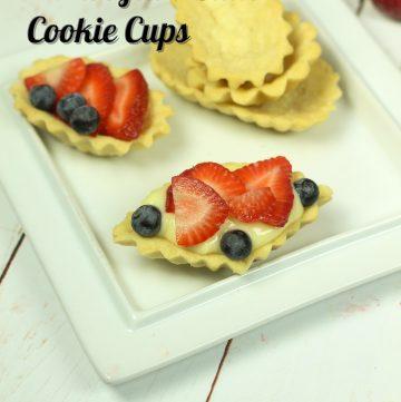 Norwegian Sandbakkels - Almond Butter Cookie Cups