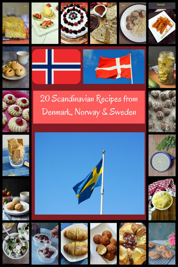 20 Scandinavian Recipes from Denmark, Norway & Sweden