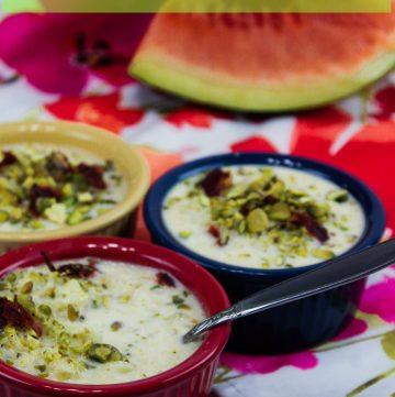 Watermelon Kheer - Indian Milk Pudding