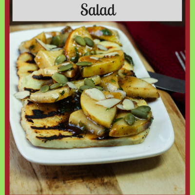 Grilled Halloumi Pear Salad