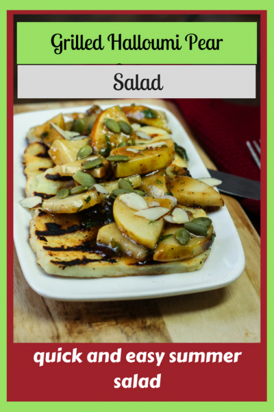 Grilled Halloumi Pear Salad