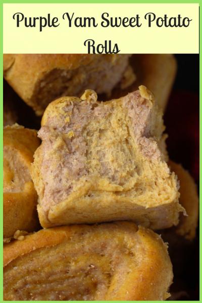 Purple Yam Sweet Potato Rolls